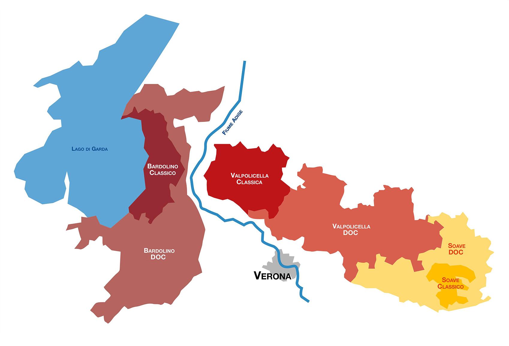 Mappa Valpolicella